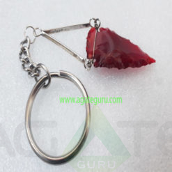 ArrowHead-Red-Glass-Kaychain