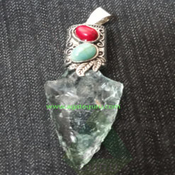 Crystal-Glass-Rough-Hand-Made-Pendent