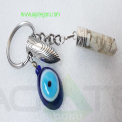 Crystal-Orgonite-Pencil-With-Bullet-And-Eye-Keychain