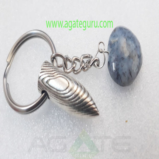 NAtural-Agate-Stone-Heart-Bullet-Key-Ring