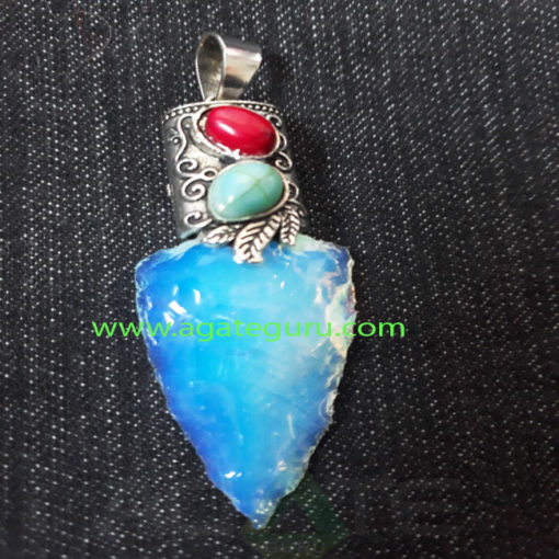 Oplite-Hand-Made-Arrowhead-Fency-PendentOplite-Hand-Made-Arrowhead-Fency-Pendent