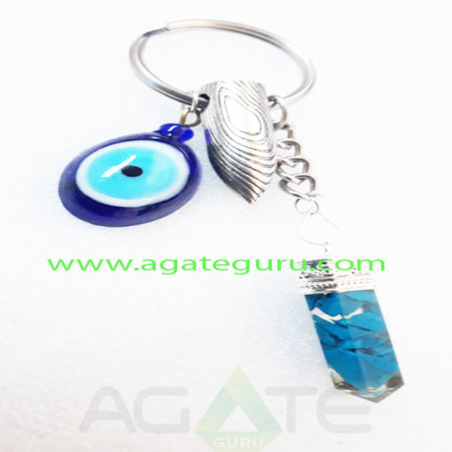 Orgone-Turquoish-Pencil-With-Evil-Eye-Keychaain