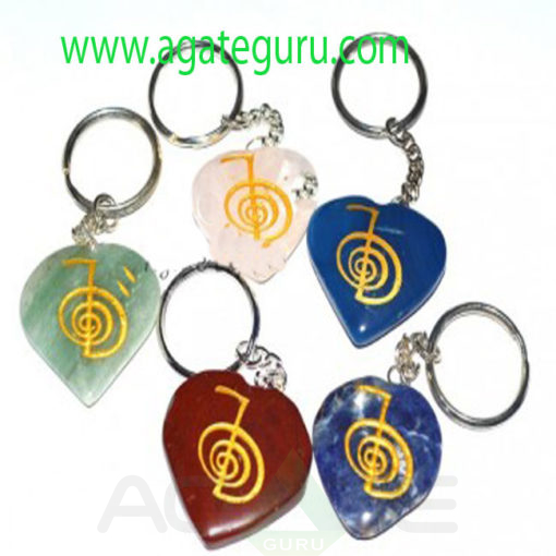 R-Key-036-Mix-Gemstone-Cho-Ku-Reiki-Keychains-