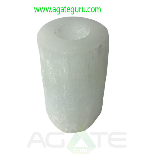 Selenite-Round-Candle-Holder