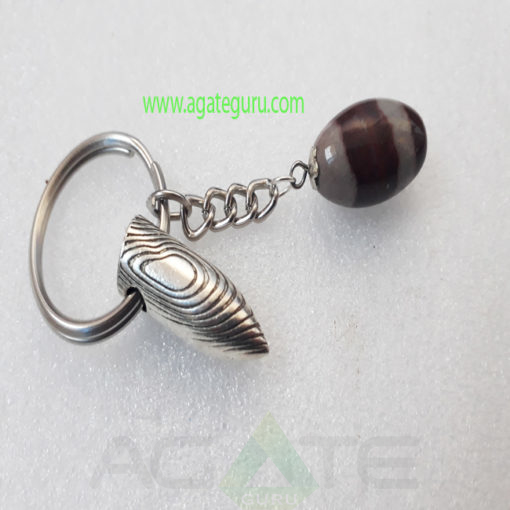 Shiva-Lingam-Gemstone-Key-Ring-With-Bullete