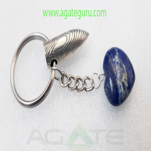 Sodalite-Mini-Heart-Key-Ring