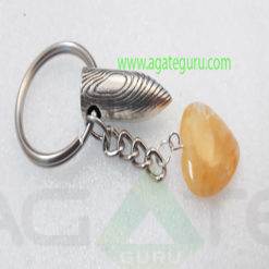 Yellow-Aventurian-Heart-With-BUllet-Key-Ring