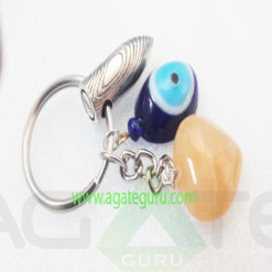 Yellow-GEmstone-Eye-Bullet-Keychain