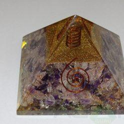 Amethyst Crystal Orgone Pyramid With Crystal Point