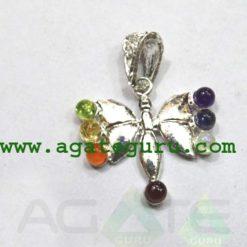 Butterfly Chakra Metal Pendant