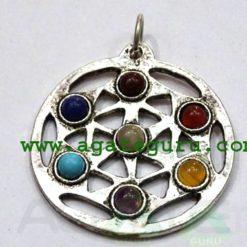 Chakra Metal Pendant