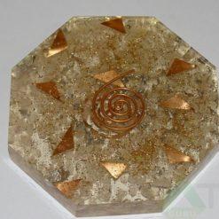 Crystal Quartz Orgone Octagon Vastu Plate