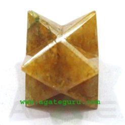 Golden Quartz Merkaba Star