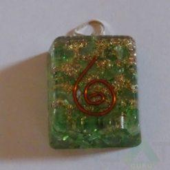 Green Square Orgone Pendant