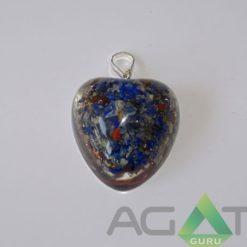 Lapis Lazuli Orgone Heart Pendent