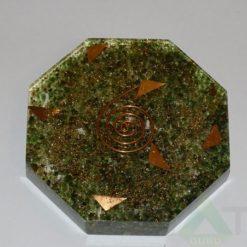 Malachite Orgone Octagon Vastu Plate