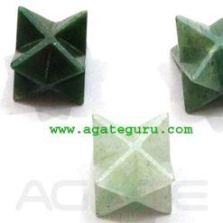 Mix Green Aventurine Merkaba Star