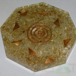 Moon Stone Orgone Octagon Vastu Plate