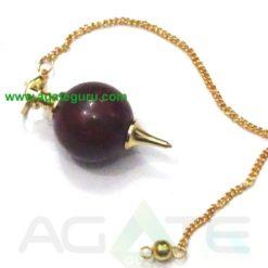 Red Jasper Ball Pendulums With Golden Chain