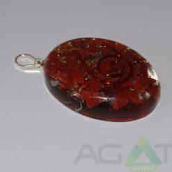 Red Jasper Orgone Oval Pendent