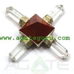 Red Jasper Pyramid Energy Generator