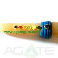 Tibetan Yellow Aventurine Healing Wand With Ball