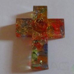 7 Chakra Mix Cross Shape Pendant