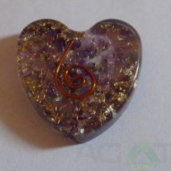 Amethyst Orgone Heart Pendent