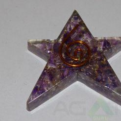 Amethyst Orgone Star
