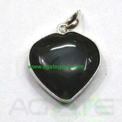 Black Agate Heart Pendant