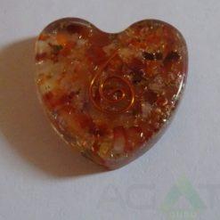 Carnelian Orgone Heart Pendent