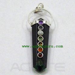 Chakra Black tourmaline Pendant