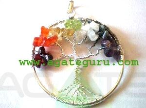 Chakra Tree of Life handmade pendant