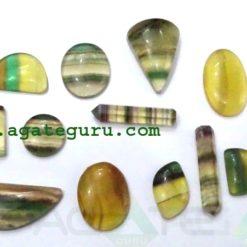 Fluorite Cabochon Mix Shape & Size