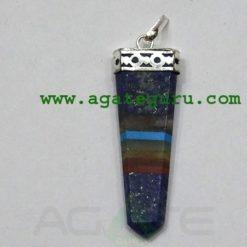 Lazuli Chakra Bonded FlatLapis Pendants