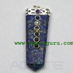 Lapis Lazuli Chakra Flat Pendants