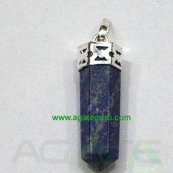 Lapis Lazuli Faceted Pencil Pendent