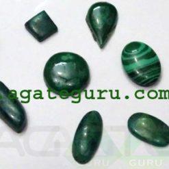 Malachite Cabochons Mix Shape & Size
