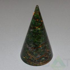 Malachite Orgone Cone