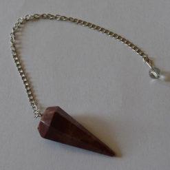 Red Jasper Faceted Pendulums