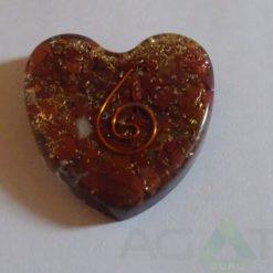 Red Jasper Orgone Heart Pendent