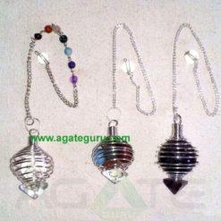 Chakra Ball Pendulums : Chakra Spiral Pendulums