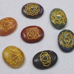 Engraved Chakra Oval Set