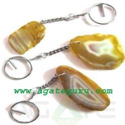 Agate Slice Keyring