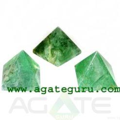 Green Flourite Agate Stone Pyramid