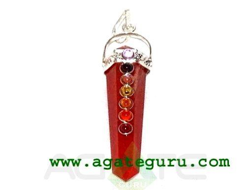 Red Jasper Seven Chakra Bridge Pendant