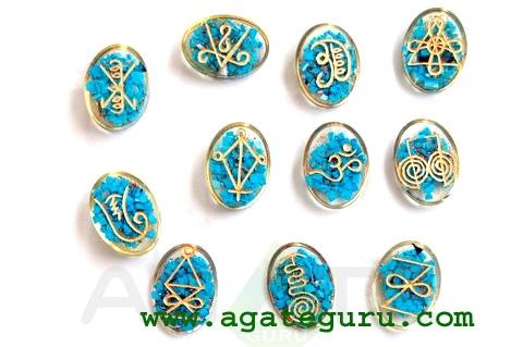 Turquoise Orgone Karuna Reiki Set