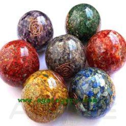 Chakra Orgone Chips Ball