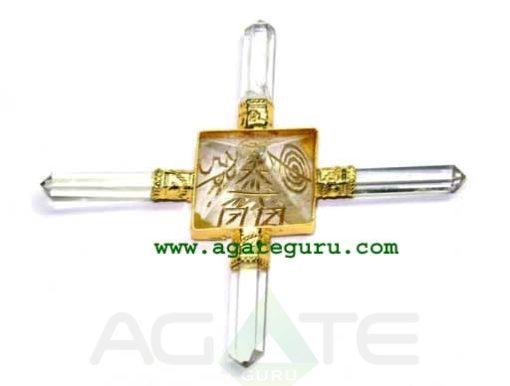 Gold Plated Crystal Usai Pyramid Generator