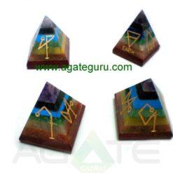 7 chakra usai reiki pyramid set